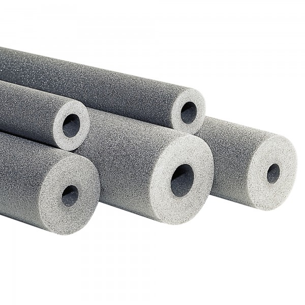 PE Rohrisolierung geschlitzt Farbe grau