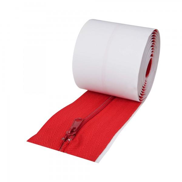 Selbstklebende Reißverschlüsse rot für Staubschutzwände 2er Set