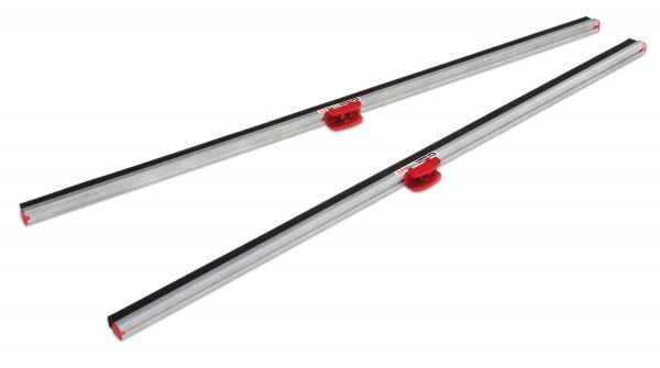 Staubschutzwand Zipwall Aluminium Dichtschienen mit Schaumleiste 2er Set