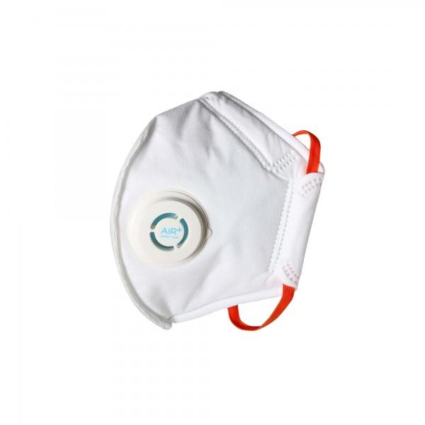 AIR+ Atemschutzmaske Feinstaubmaske FFP2 mit Ausatemventil
