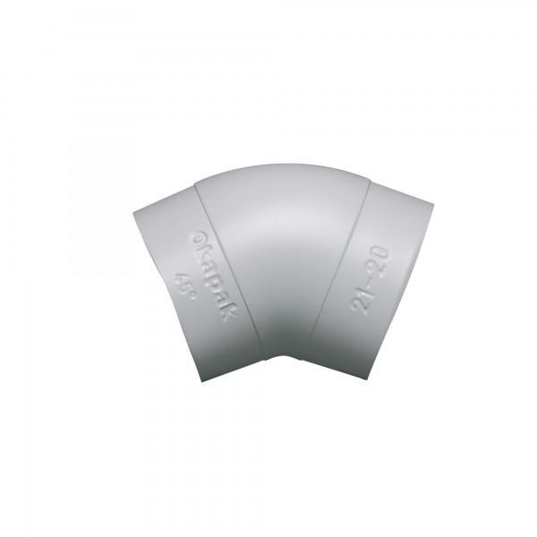 PVC Bogen Okapak 45 Grad hellgrau schwerentflammbar