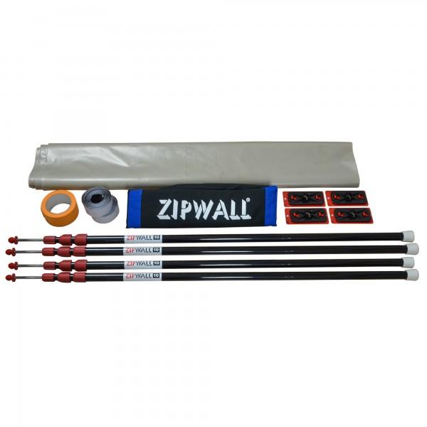 """Staubschutzwand ZipWall® Set """"Basic"""" Höhe 3,10 m x Breite 5,00 m"""