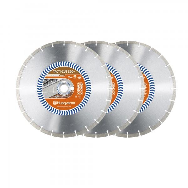 Husqvarna® 3 x TACTI-CUTE S 50 (350 mm) + Husqvarna@ Strandtuch