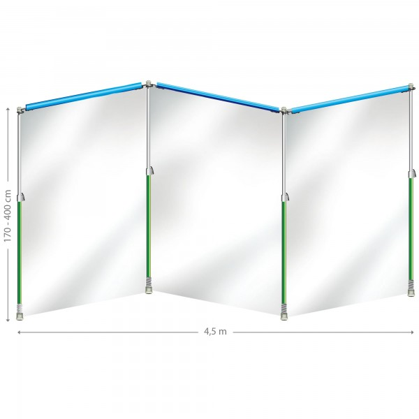 Curtain-Wall Staubschutzwand System Starterkit (4,5 m x 4 m)